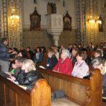 Bayer Robi felvezetője a ferencesek templomában